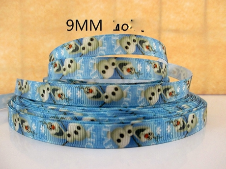 1 METRE FROZEN OLAF RIBBON SIZE 3/8 BOWS HEADBANDS BIRTHDAY CAKE HAIR CLIP